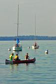 Canoe Ride on Lake Mendota, Madison, Wisconsin