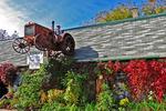Tractor on the Roof, Lefeber's Antique Tractors, Calumetville, Wisconsin