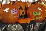 Decorated Pumpkins for Halloween, Farmer's Market, Appleton, Wisconsin