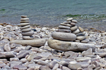 Cairns on Schoolhouse Beach, Washington Island, Door County, Wisconsin