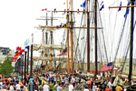 Tall Ships and Crowd, Tall Ship Festival, Leicht Memorial Park, Green Bay, Wisconsin
