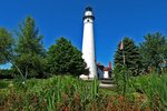 Wind Point Lighthouse and Garden, Racine, Wisconsin