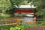Covered Bridge and Fence at Red Mill, Waupaca, Wisconsin