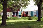 Amish Laundry On Line, Amish Farm, Columbia County, Wisconsin