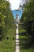 Bailey's Harbor Range Light with People, Bailey's Harbor, Door County, Wisconsin