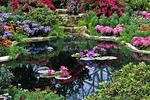 Spring Flower Garden in Mitchell Park Domes, Milwaukee, Wisconsin