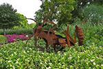 Giant Metal Bug in Garden, Boerner Botanical Gardens, Milwaukee, Wisconsin
