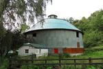 Round Barn in Driftless Area, Vernon County, Wisconsin