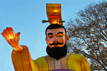 Emperor Qin & Terracotta Warriors, China Lights, Boerner Botanical Gardens, Milwaukee, Wisconsin