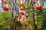 Lanterns on Bridge, China Lights, Boerner Botanical Gardens, Milwaukee, Wisconsin