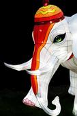 Lighted White Elephant, China Lights, Boerner Botanical Gardens, Milwaukee, Wisconsin
