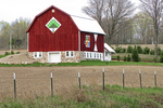 Two Quilts on Barn in Shawano County, Wisconsin