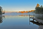East Star Lake with Morning Fog, Star Lake, Wisconsin