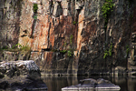 Rock Formations, Dells of Eau Claire River, Wausau, Wisconsin