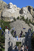 Mt. Rushmore and the Avenue of Flags, Mt. Rushmore National Park, Black Hills, South Dakota