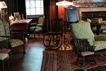 Living Room and Wheelchair, Springwood Estates, Home of President Franklin D. Roosevelt, Hyde Park on Hudson River, New York