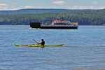 Madeline Island Ferry and Kayaker, Lake Superior, Wisconsin