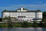 Hotel Chequamegon from Marina, Lake Superior, Ashland, Wisconsin