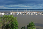 Ashland Marina Before Storm, Hotel Chequamegon, Lake Superior, Ashland, Wisconsin