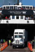 Loading Truck on SS Badger ferry at Manitowoc, Wisconsin