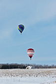 Hot Air Balloons in Winter, Freedom, Wisconsin