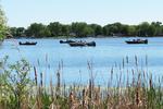 Fishermen at Asylum Point Park, Lake Winnebago, Oshkosh, Wisconsin