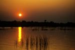 Sunset in Okavango Delta, Botswana, Africa