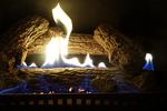 Fire in Fireplace in Winter, Appleton, Wisconsin