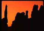 Hoodoo silhouette from Sunrise Point area (SC576)