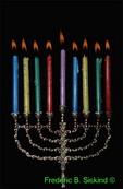 Hannukah candles on monorah(PL30)