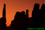 Hoodoo silhouette from Sunrise Point area (SC575)