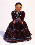 Cloth doll.  Made by Navajo Indian, Pearl Joe. Native American folk art.  Arizona.