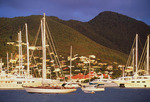 Yachts in Simpson Bay, Sint Maarten, Leeward Islands, Caribbean.