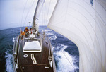 Sailing in the Gulf Stream, in the North Atlantic, from Newport, Rhode Island to Bermuda.  Atlantic Ocean.