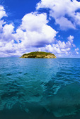 Little Bird Island, on the northeast side of the island of Antigua.  Leeward Islands, Caribbean.