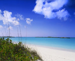Tropic of Cancer Beach and Exuma Sound. Little Exuma Island, Exuma Cays, Bahamas.