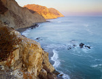 Sunset at Valley Anchorage, along the south coast of Santa cruz Island.  Santa Cruz Island Preserve.  The Nature Conservancy.  California.
