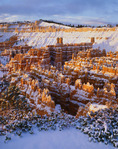 The Silent City, winter.  Bryce Canyon National Park, Utah.
