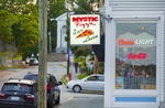 "The restaurant ""Mystic Pizza', made famous in 1988 movie with Julia Roberts.  Mystic, Connecticut."