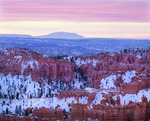 Navajo Mountain, winter, from Bryce Canyon National Park, Utah.