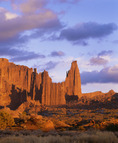 Fisher Towers at sunset.  BLM.  Southeast Utah.