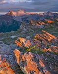 Snowmass Mountain and Capitol Peak from Buckskin Pass, Maroon Bells-Snowmass Wilderness, near Aspen, Colorado