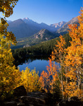 Longs Peak and Glacier Gorge from Bear Lake in Autumn, Rocky Mountain National Park, Colorado