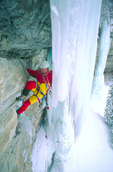 Jack Roberts leading Terrible Traverse, near Vail, Colorado