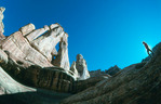 Cora Randall & Druid Arch, Canyonlands National Park, Utah