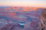 Sunrise over the Colorado River from Dead Horse Point, near Moab, Utah
