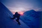 Peter Metcalf descending the southeast ridge of Mt. Foraker, Denali National Park, Alaska