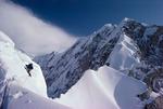 Peter Metcalf on Reality Ridge, Mt. McKinley, Denali National Park, Alaska