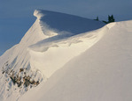 Cornice on Peak 11,840, Holy Cross Wilderness, near the Peter Estin Hut, southwest of Vail, Colorado