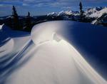 Cornice on Bald Mountain, Gore Range, near Vail, Colorado